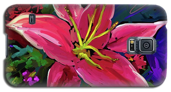 Galaxy S5 Case featuring the painting Lily by DC Langer