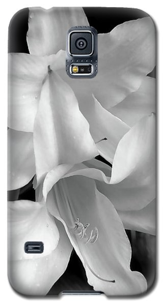 Lily Flowers Black And White Galaxy S5 Case
