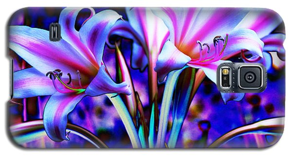 Lily Glow Abstract Galaxy S5 Case by M Diane Bonaparte