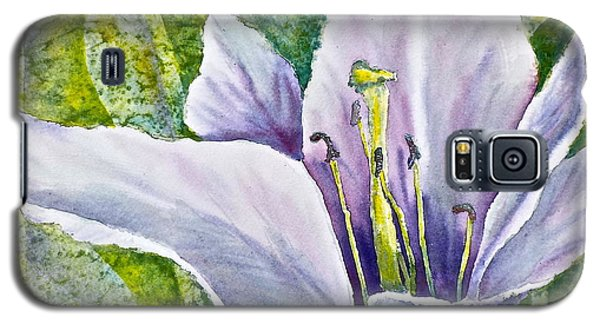 Lily In Purple Galaxy S5 Case by Carolyn Rosenberger