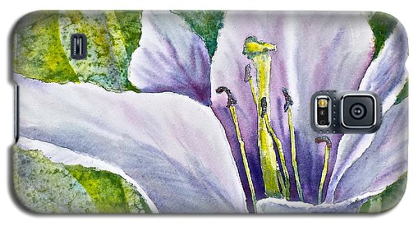 Lily In Purple Galaxy S5 Case