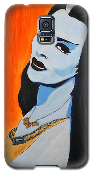 Galaxy S5 Case featuring the painting Lily Munster - Yvonne De Carlo by Bob Baker