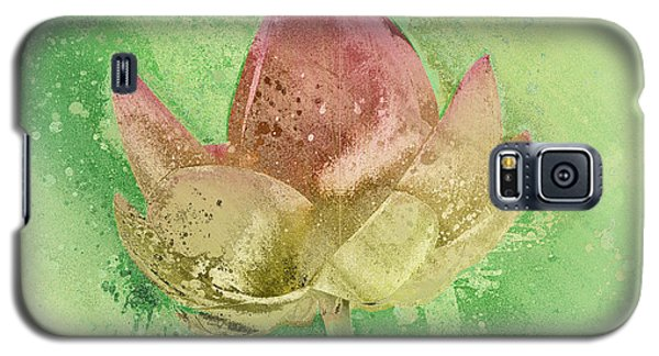 Galaxy S5 Case featuring the mixed media Lily My Lovely - S112sqc88 by Variance Collections