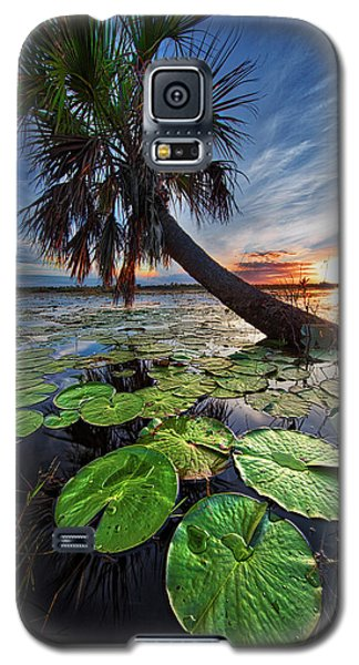 Lily Pads And Sunset Galaxy S5 Case