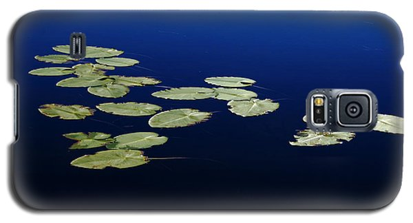 Galaxy S5 Case featuring the photograph Lily Pads Floating On River by Debbie Oppermann