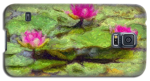Lily Pads Galaxy S5 Case by Larry Keahey