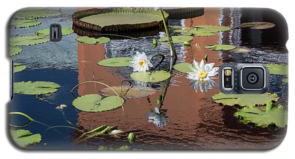 Galaxy S5 Case featuring the photograph Lily Pond Reflections by Suzanne Gaff