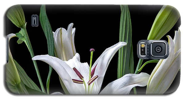 A White Oriental Lily Surrounded Galaxy S5 Case