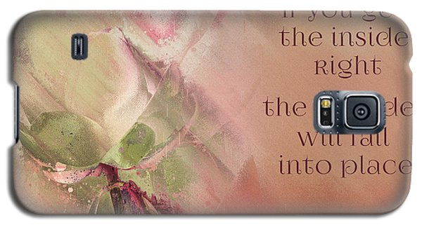 Galaxy S5 Case featuring the digital art Lily Text - Et01b by Variance Collections
