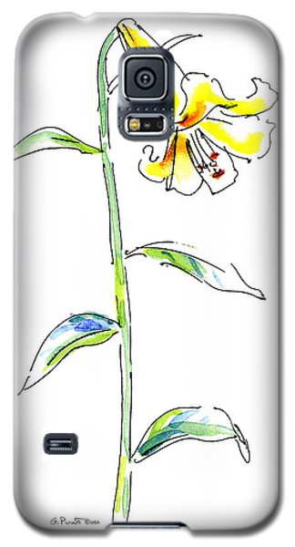 Lily Watercolor Painting 2 Galaxy S5 Case
