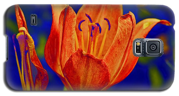 Galaxy S5 Case featuring the photograph Lily With Sabattier by Bill Barber