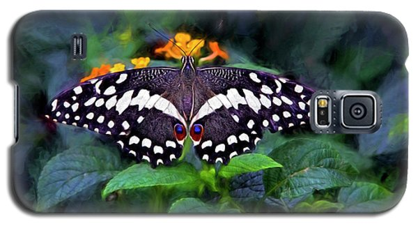 Lime Swallow Tail Galaxy S5 Case by James Steele