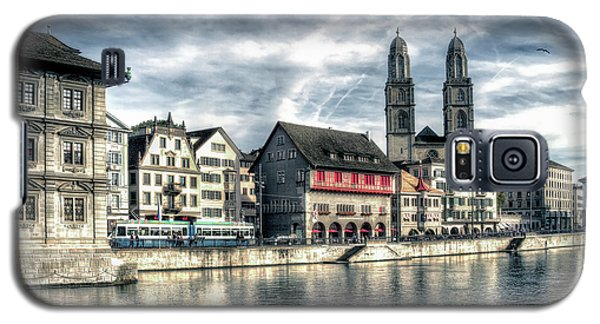 Galaxy S5 Case featuring the photograph Limmat Riverfront by Jim Hill