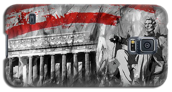 Galaxy S5 Case featuring the painting Lincoln Abe by Gull G