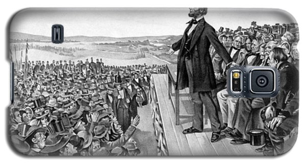 Lincoln Delivering The Gettysburg Address Galaxy S5 Case by War Is Hell Store