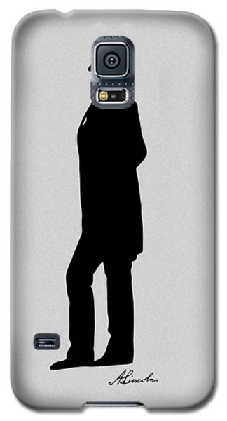 Lincoln Silhouette And Signature Galaxy S5 Case by War Is Hell Store