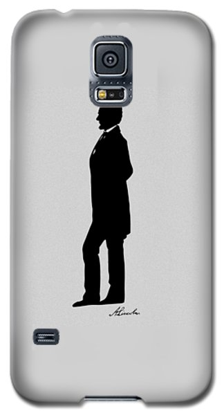 Lincoln Silhouette And Signature Galaxy S5 Case