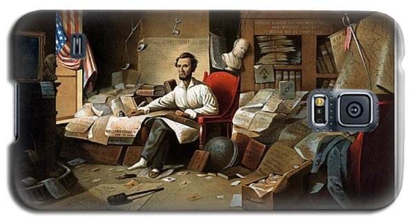 Lincoln Writing The Emancipation Proclamation Galaxy S5 Case by War Is Hell Store