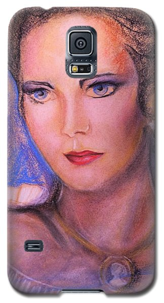 Galaxy S5 Case featuring the pastel Linda Carter by Denise Fulmer