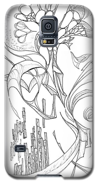 Flowing Floating Flora Galaxy S5 Case by Charles Cater