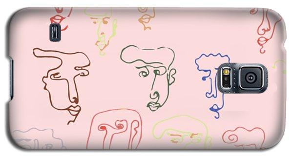 line faces I Galaxy S5 Case