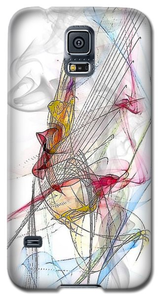 Galaxy S5 Case featuring the digital art Line Pattern By Nico Bielow by Nico Bielow