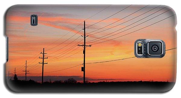 Lineman's Sunset Galaxy S5 Case by Rachel Cohen