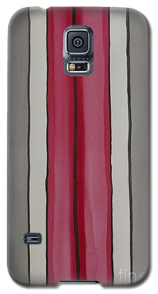 Galaxy S5 Case featuring the painting Lines by Jacqueline Athmann