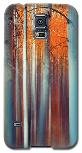 Galaxy S5 Case featuring the photograph Lines Of Autumn by John De Bord