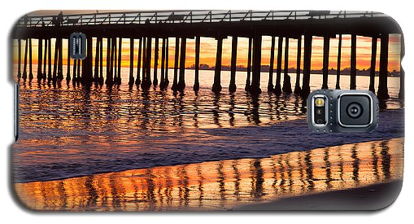 Galaxy S5 Case featuring the photograph Sunset Seacliff Shadows by Lora Lee Chapman