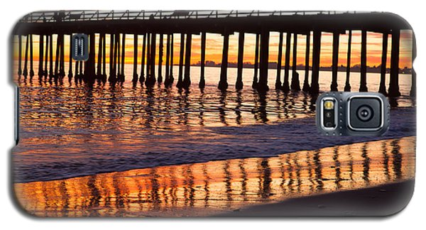Sunset Seacliff Shadows Galaxy S5 Case by Lora Lee Chapman