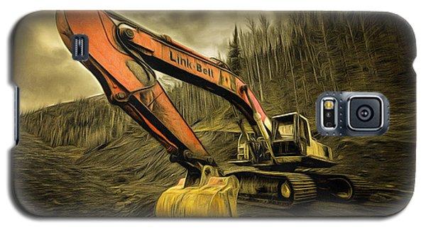 Link Belt Excavator Galaxy S5 Case