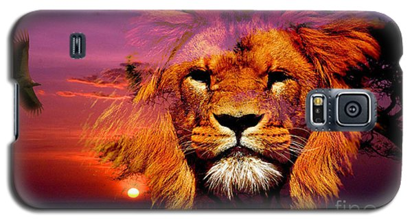 Lion And Eagle In A Sunset Galaxy S5 Case