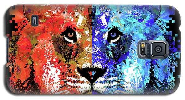 Galaxy S5 Case featuring the painting Lion Art - Majesty - Sharon Cummings by Sharon Cummings