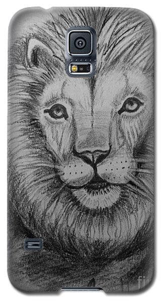 Galaxy S5 Case featuring the painting Lion by Brindha Naveen