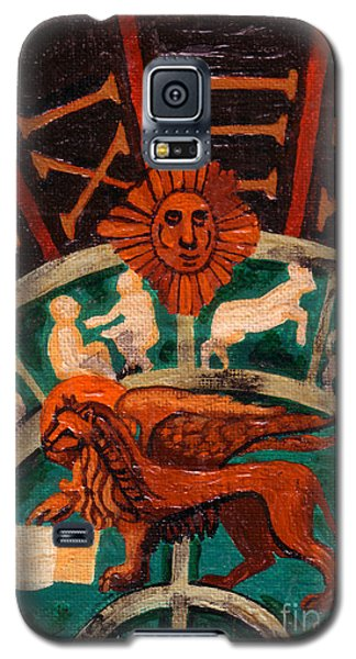 Galaxy S5 Case featuring the painting Lion Of St. Mark by Genevieve Esson