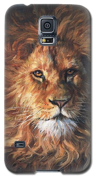 Galaxy S5 Case featuring the painting Lion Portrait by David Stribbling