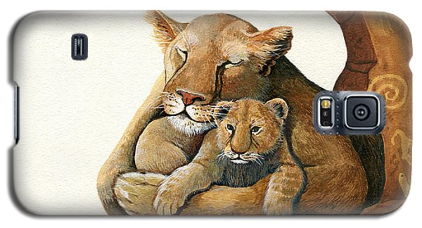 Lion - Protect Our Children Painting Galaxy S5 Case
