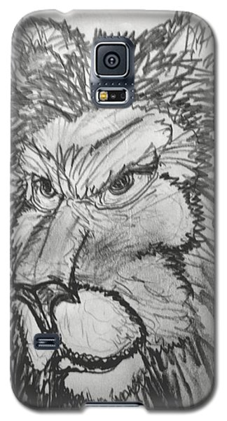 Lion Sketch  Galaxy S5 Case by Yshua The Painter