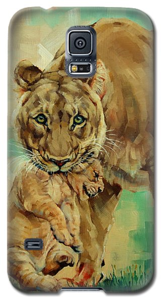 Lioness And Cub Galaxy S5 Case by Margaret Stockdale