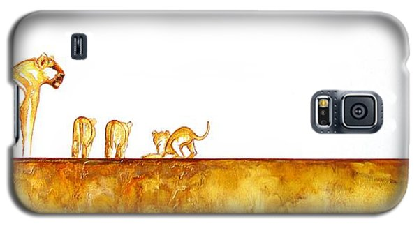 Lioness And Cubs - Original Artwork Galaxy S5 Case
