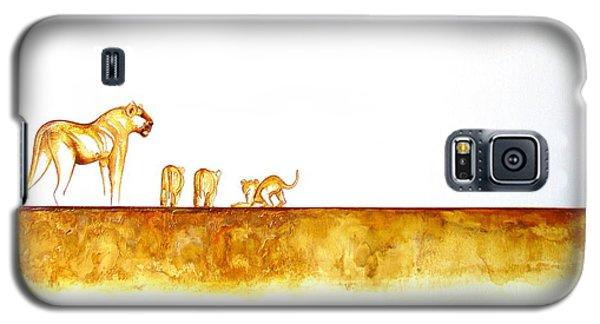 Lioness And Cubs - Original Artwork Galaxy S5 Case