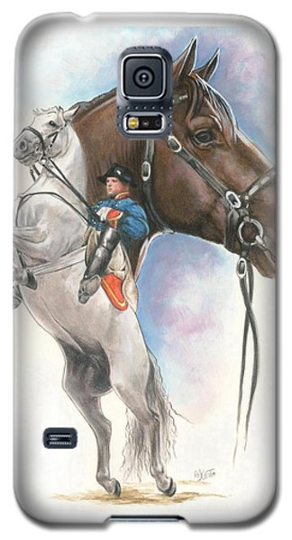 Galaxy S5 Case featuring the mixed media Lippizaner by Barbara Keith