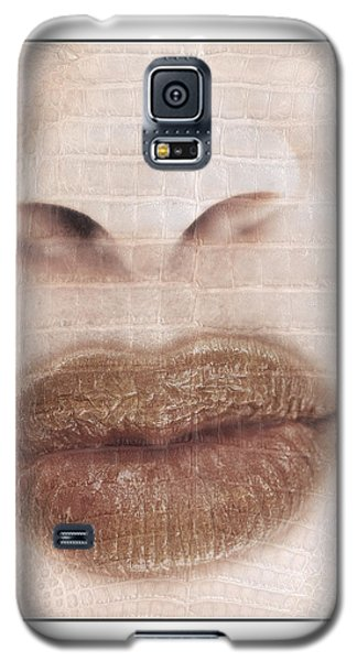 Galaxy S5 Case featuring the photograph Lips And Nose. Female by Michael Edwards