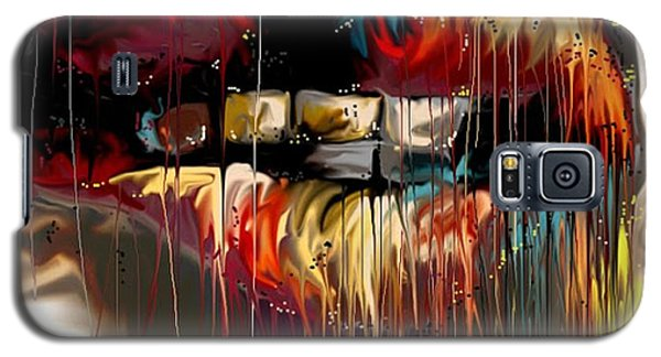 Galaxy S5 Case featuring the digital art Lips Say It All by Darren Cannell