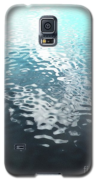 Galaxy S5 Case featuring the photograph Liquid Blue by Rebecca Harman