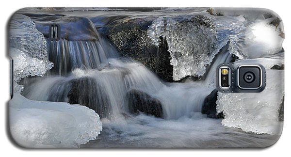 Galaxy S5 Case featuring the photograph Winter Waterfall In Maine by Glenn Gordon