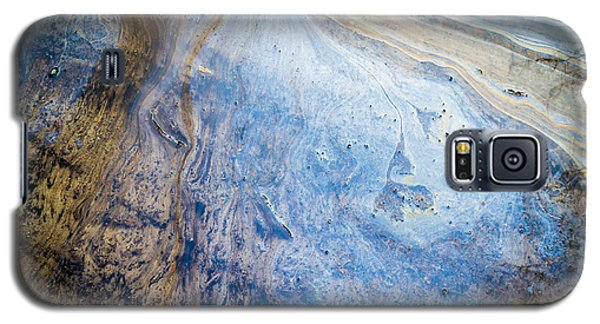 Liquid Oil On Water With Marble Wash Effects Galaxy S5 Case