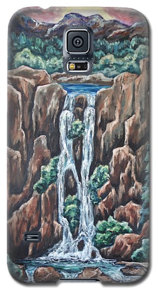 Galaxy S5 Case featuring the painting Listen To The Echoes by Cheryl Pettigrew