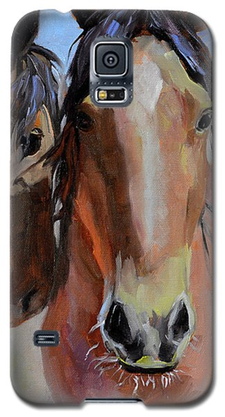 Galaxy S5 Case featuring the painting Litchfield Homies by Pattie Wall